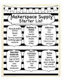Makerspace Starter List