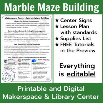 Makerspace Starter: Marble Maze Building Center