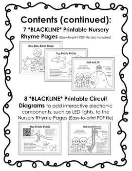 Makerspace Starter: Paper Circuits Circulating Kits & BLACKLINE Nursery Rhymes