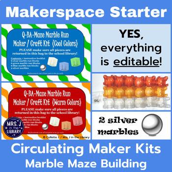 Makerspace Starter: Q-BA-MAZE™ Marble Run or Maze Circulating Kit Materials