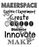 Makerspace Subway Art Sign