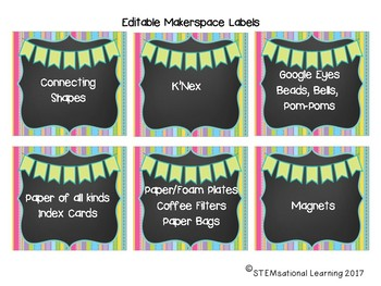 Makerspace Supply Labels