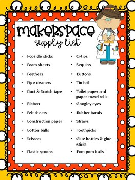 Makerspace Supply List