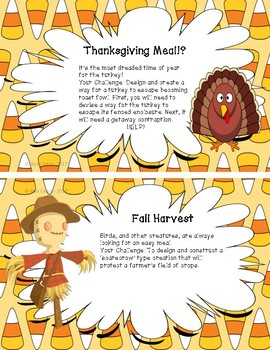 Makerspace Task Cards - Fall Themed