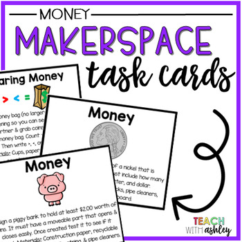 Makerspace Task Cards Money