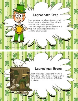 Makerspace Task Cards - St. Patrick's Day