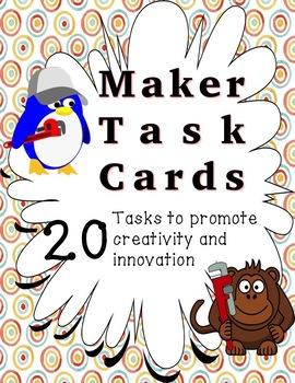 Makespace Task Cards - Bundle of 60 Tasks!