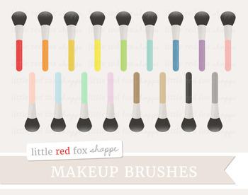 Makeup Brush Clipart; Beauty, Cosmetics