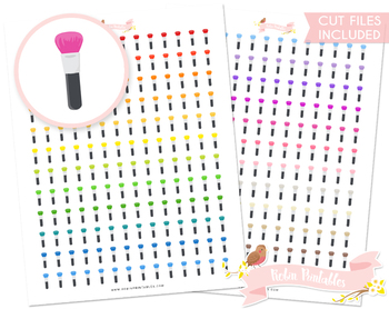 Makeup Brush Printable Planner Stickers
