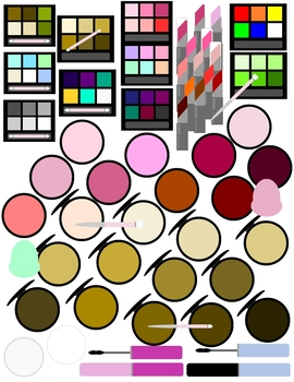 Makeup Clip-art or Print for Pretend Play