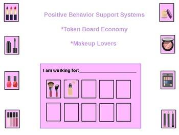 Makeup Token Board for Positive Behavior Support (Autism,ODD,Special Needs,ADHD)