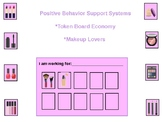 Makeup Token Board for Positive Behavior Support (Autism,O