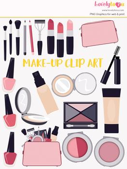 Makeup beauty symbols clipart, cosmetics clipart (LC04)