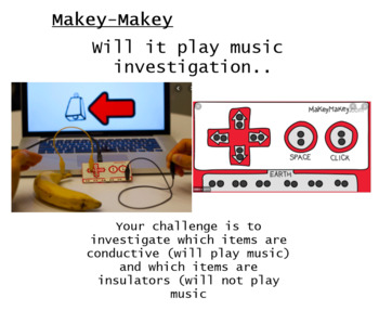 Makey Makey Investigation SMART board Activity