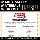 Makey Makey Materials Wish List FREEBIE