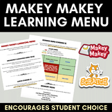 Makey Makey & Scratch Learning Menu