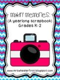 First Grade Scrapbook