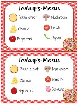 Vocabulary Games for Early Learners -Pizza Themed