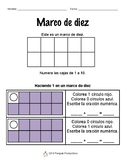 Making 1 to 5 in a Ten Frame SPANISH