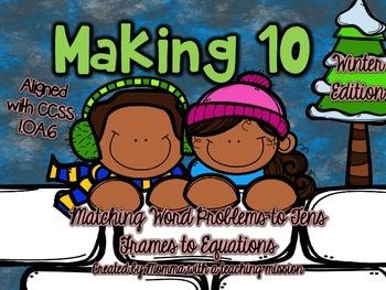 Making 10 1.OA.6 Winter Matching Game
