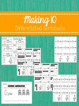 Making 10 Pack with Differentiated Worksheets