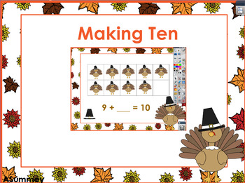 Making 10 - A Thanksgiving (Turkey) Themed Whiteboard Activity