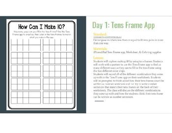 Making 10 App Lessons