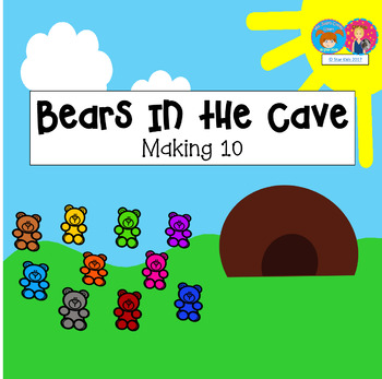Addition to 10 Game for Kindergarten and First Grade {PowerPoint on PDF Format}