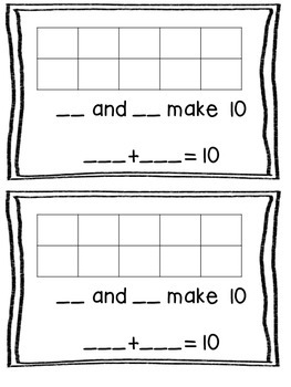 Making 10 Booklet