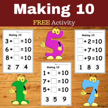 Making 10 Cut and Paste Activity