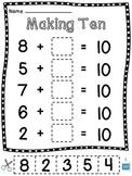 Making 10 Worksheets (15 Make a 10 Cut Sort Paste Practice Sheets)