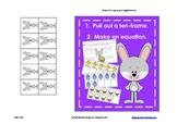 Making 10 - Easter Themed (Recording Sheet, Ten-Frames, Equations)