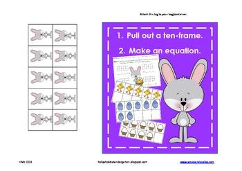 Making 10 - Easter Themed (Recording Sheet, Ten-Frames, Eq