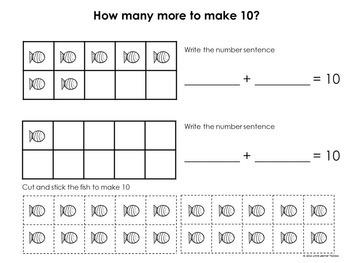 Making 10: Math Centers (Fish)