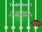Making 10 {Football Theme Activities}