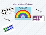 Making 10  Games - 5 Printable Math Games with Recording Sheets
