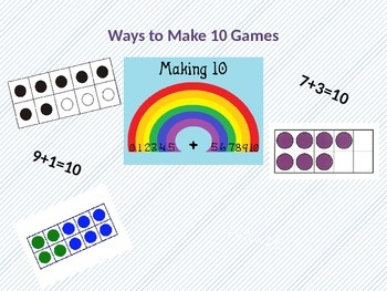 graphic relating to Making 10 Games Printable known as Creating 10 Game titles - 5 Printable Math Game titles with Recording Sheets