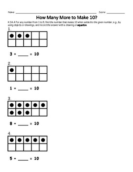 Making 10: Games, Practice, & Common Core Assessments {Kinder Edition}