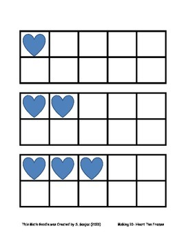 Making 10- Hearts Ten Frames