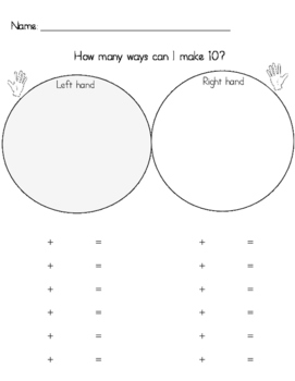 Making 10 - How Many ways can I make ten?