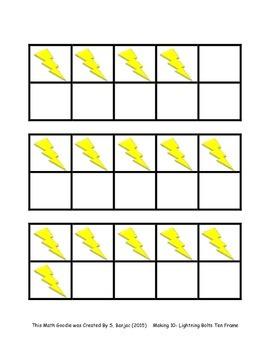 Making 10- Lightning Bolt Ten Frames