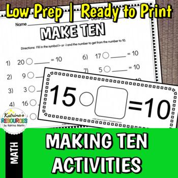 Making 10 Math Activities & Games