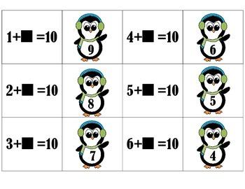 Making 10 Penguin Matching Game