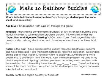 Making 10 Rainbow Buddies