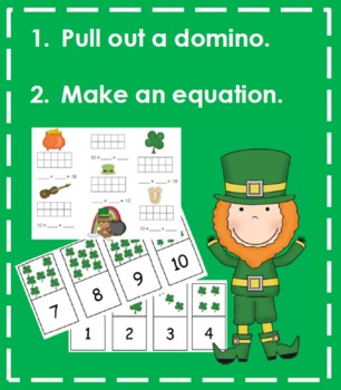 Making 10 - St. Patrick's Day Themed (Recording Sheet, Ten-Frames, Equations)