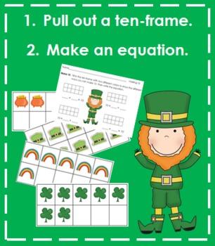 Making 10 - St. Patrick's Day Themed (Recording Sheet, Ten