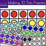Making 10 Ten Frames Clip Art {jen hart Clip Art}