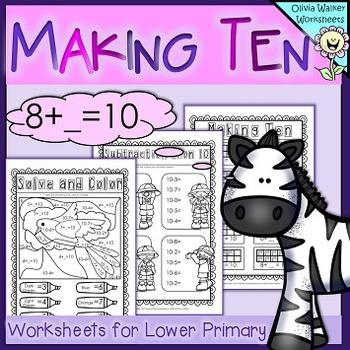Making Ten ( Make 10) - Includes Tens Frames / Number Line