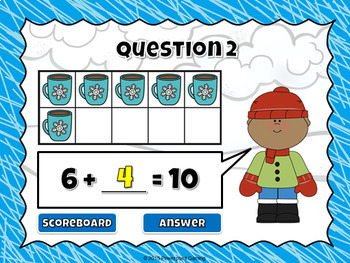 Making 10 - Winter Edition- Powerpoint Game