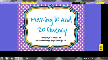 Making 10 and 20 number fluency